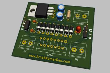 3D Render of L298 Motor Driver Module