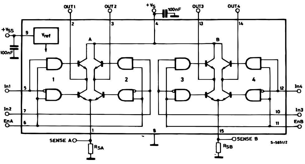 L298 IC Internal Block Diagram