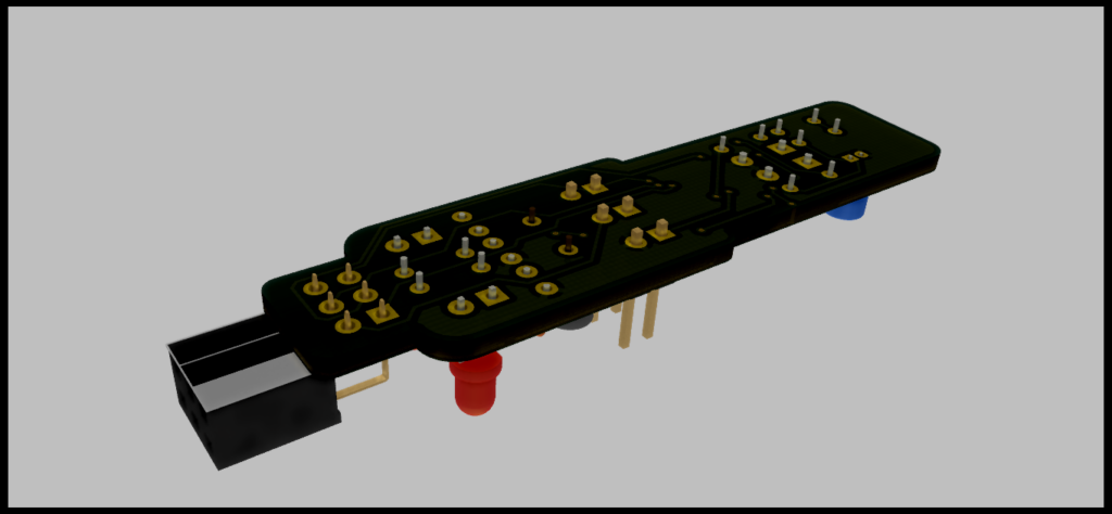 Raytraced Render of USBasp In-Circuit Programmer for Atmel AVR MCU