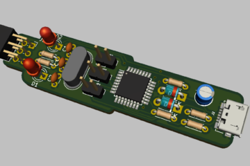 3D Render of USBasp In-Circuit Programmer for Atmel AVR MCU