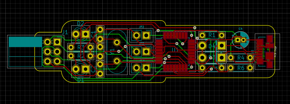 USBasp : In-Circuit Programmer for Atmel AVR MCU PCB Layout