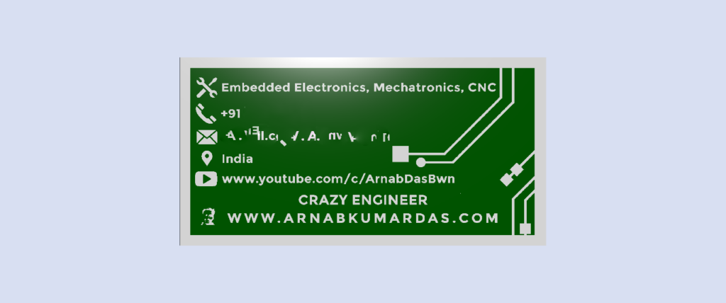 Render of PCB Business Card Buttom