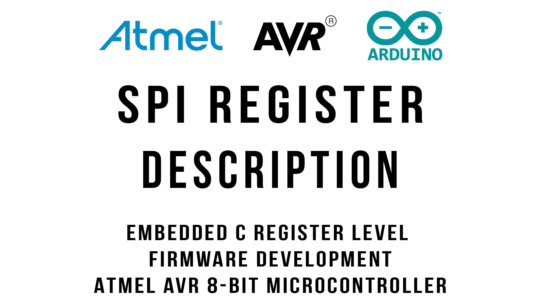 SPI Register Description : Arduino / ATmega328p