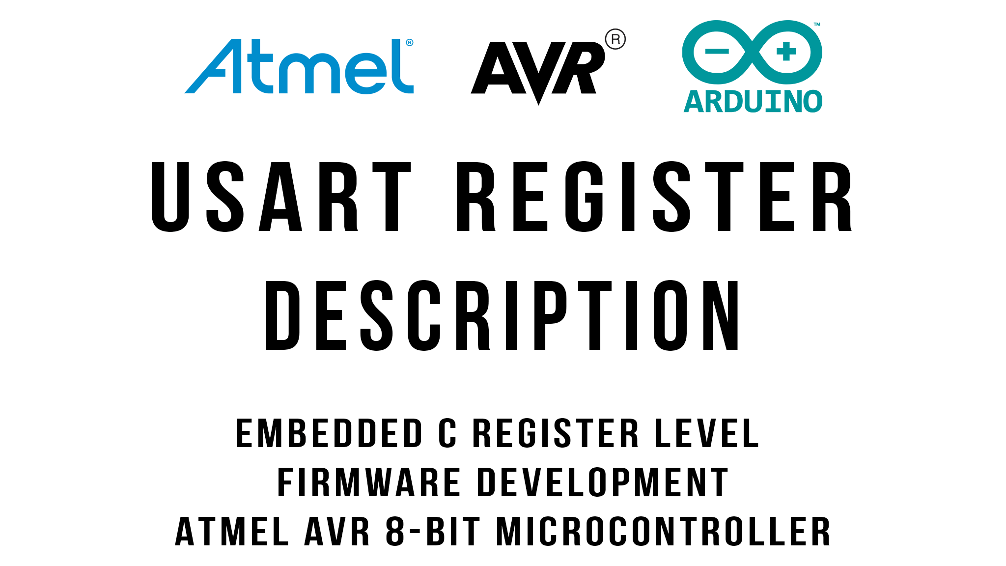 USART Register Description : Arduino / ATmega328p