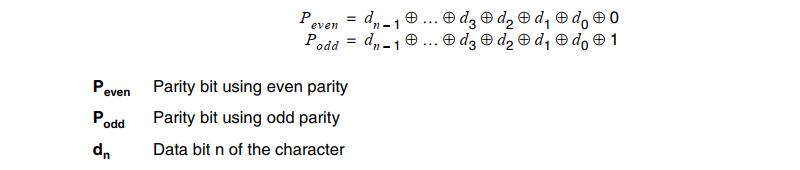 USART parity Bit Calculation