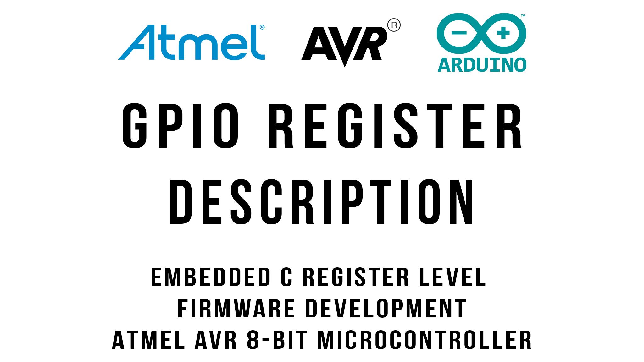 GPIO Register Description Tutorial