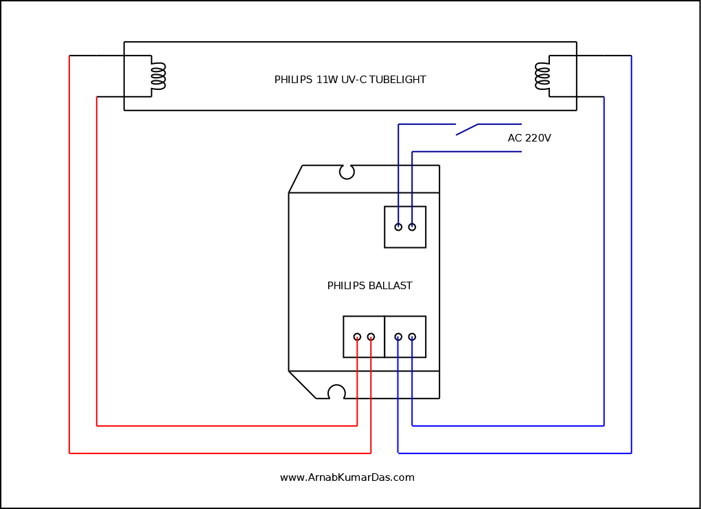 Philips UV-C Tubelight Connection Diagram