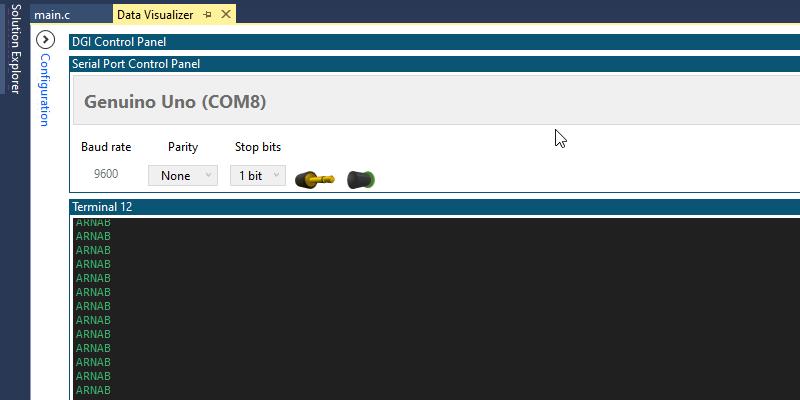 Arduino UNO / Atmega328p USART Atmel Studio Output