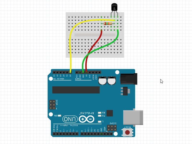 LM355 Interfacing with Arduino Schematic / Circuit Diagram