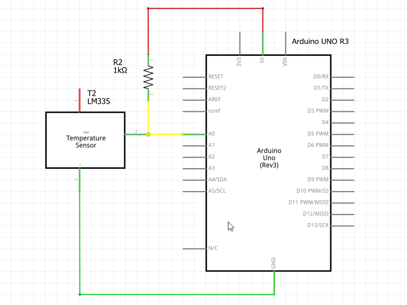 LM355 Interfacing with Arduino Schematic Diagram
