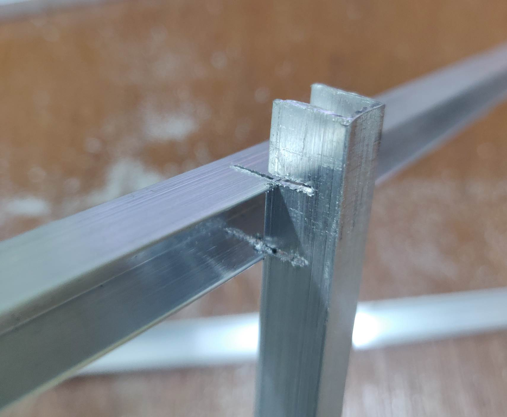 Interlocking Aluminium U Channels to for a Joint
