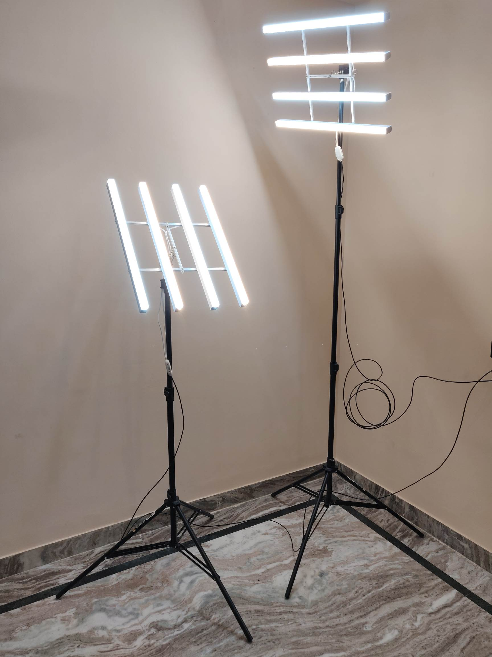DIY LED Light Panel Mounted on Light Stand