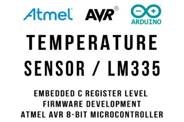 LM335 Zener Temperature Sensor Arduino Atmega328p Tutorial