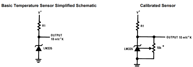 LM335 Temperature Sensor Operation Modes