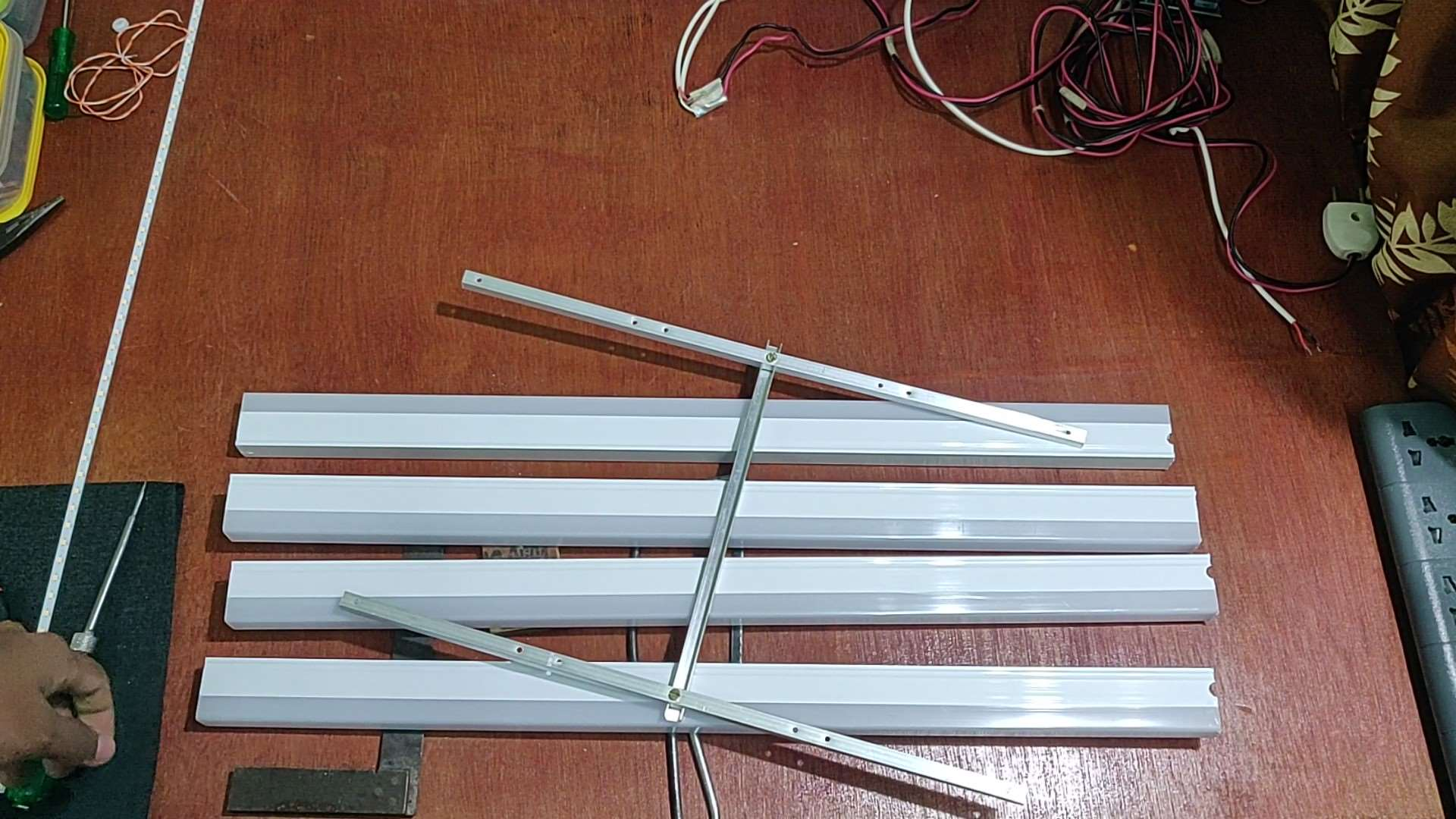 Aluminium U Channel Frame for DIY LED Light Panel