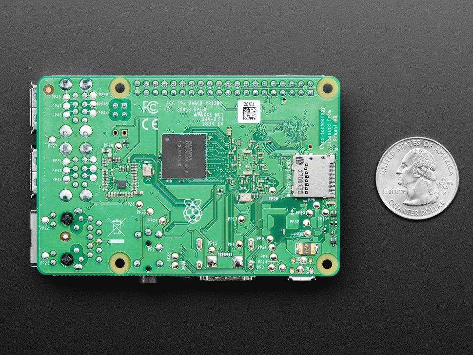 Raspberry Pi 3 Model B+ Back Side