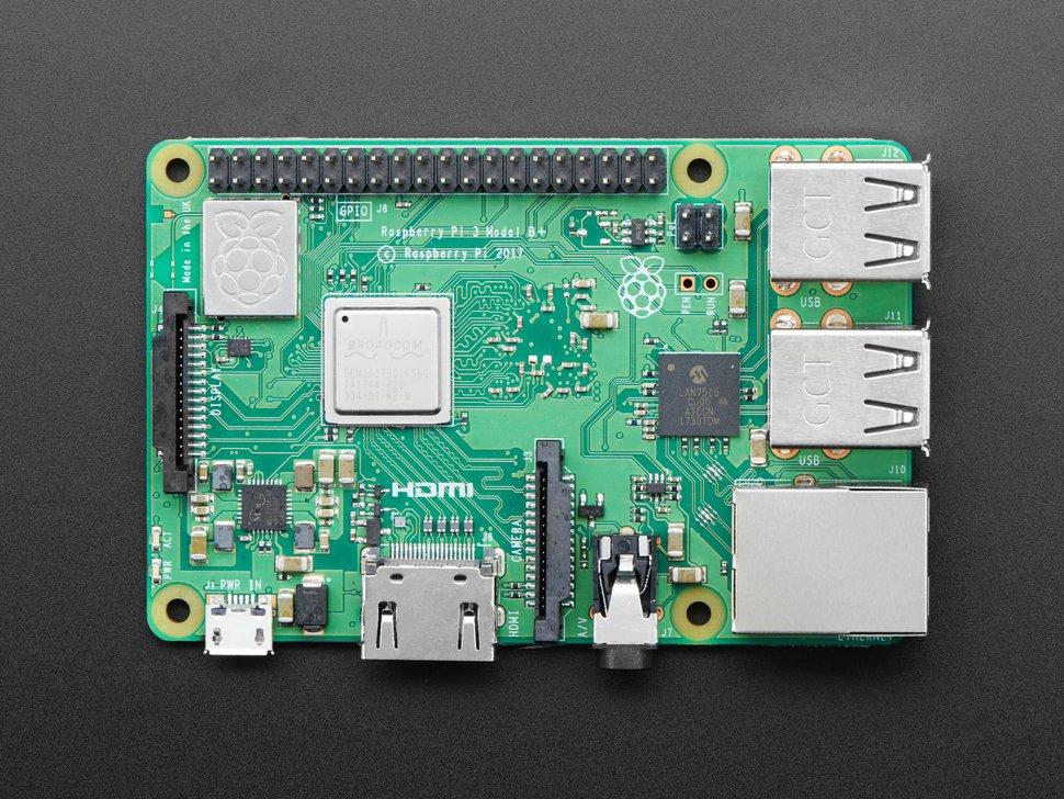 Raspberry Pi 3 Model B+ Top View