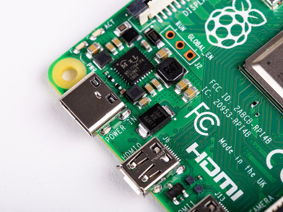 Raspberry Pi 4 Model B Power Input