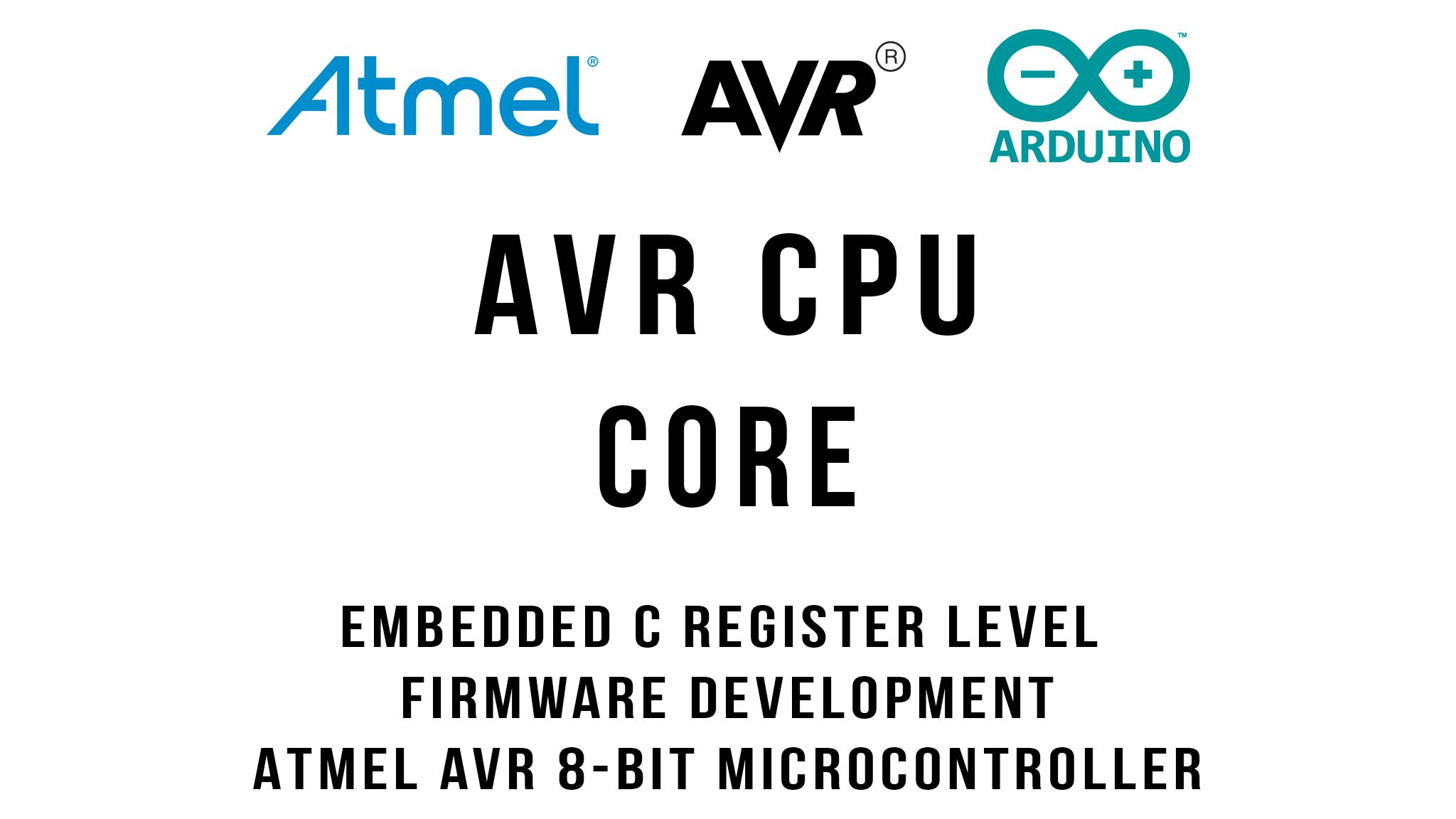 AVR 8-Bit CPU Core Architecture