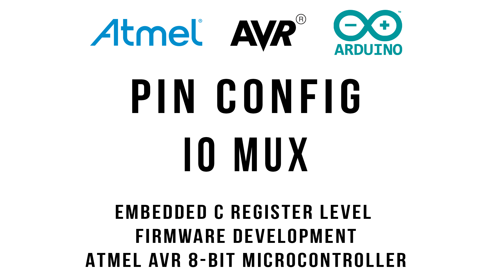 AVR Pin Configuration and IO Multiplexing of ATmega328P
