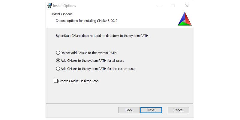 Step 2 : Installing CMAKE