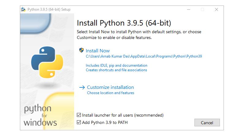 Step 1 : Installing Python
