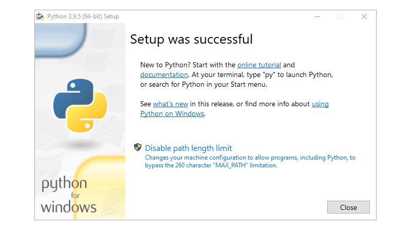 Step 5 : Installing Python