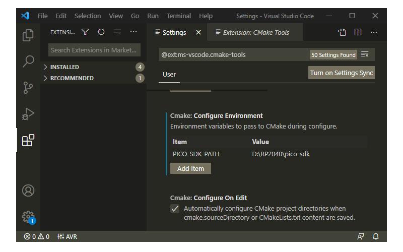 Add CMake Configure Environment Path