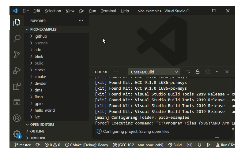 CMake Configuration Starts