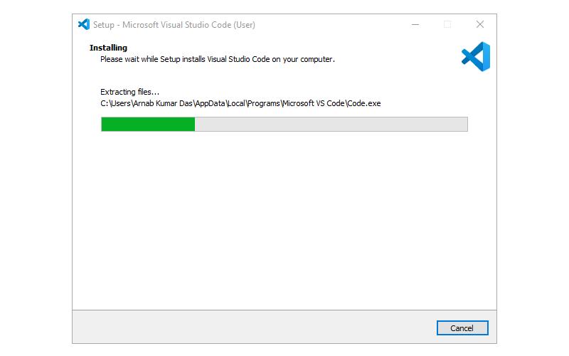 Step 4 : Installing Visual Studio Code