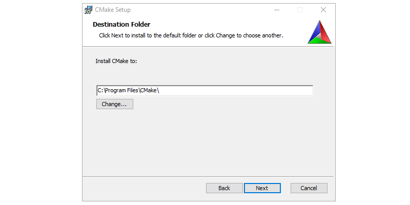 Step 3 : Installing CMAKE