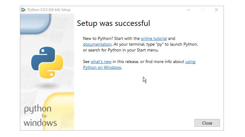 Step 6 : Installing Python