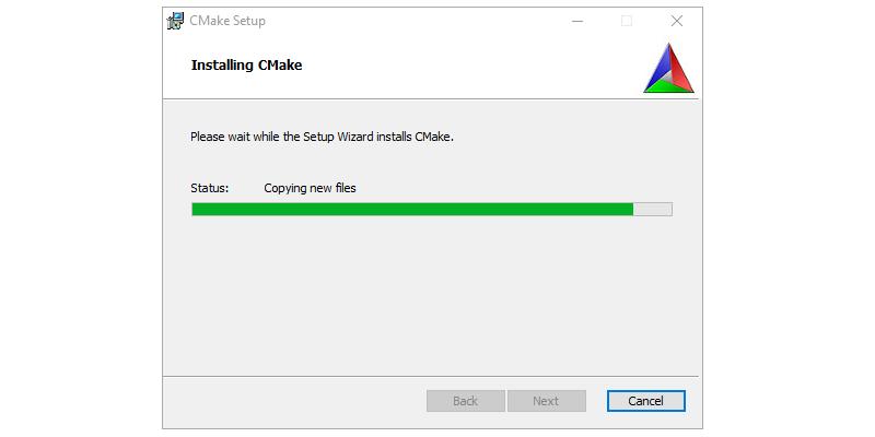 Step 4 : Installing CMAKE