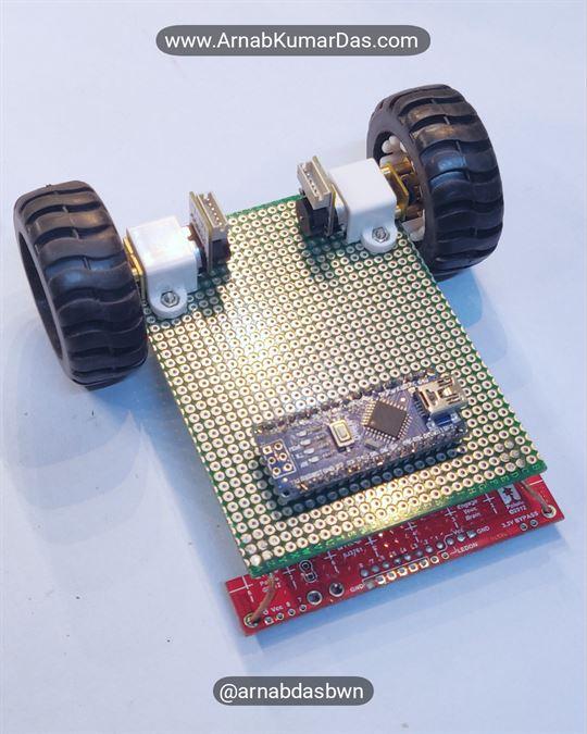 Arduino Line Follower Robot V1 Mounting  Arduino Nano to Zero PCB / Perf Board Chassis