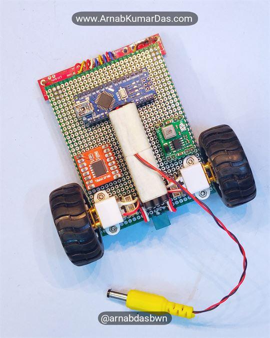 Arduino Line Follower Robot V1 Final Assembled