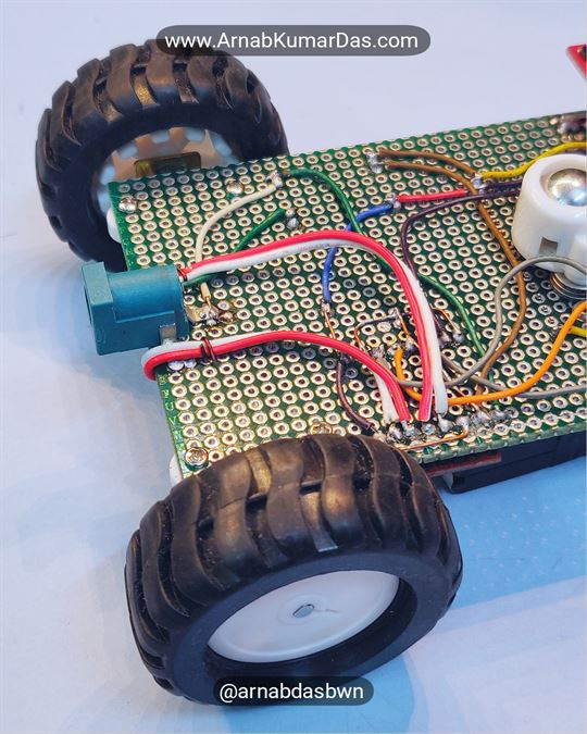 Arduino Line Follower Robot V1 Soldering and Connecting the Components together