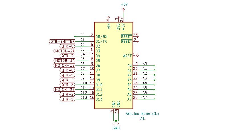 Line Follower Robot Arduino Connection